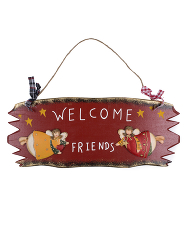"Табличка ""Welcome friends"""